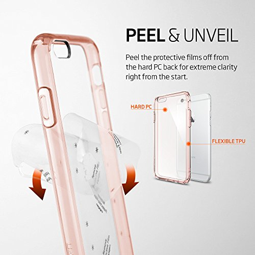 wholesale dealer 800ed 2aa5d Spigen Ultra Hybrid iPhone 6S Case with Air Cushion Technology and Hybrid  Drop Protection for iPhone 6S / iPhone 6 - Rose Crystal