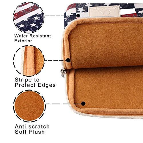 CanvasArtisan USA Flag 15-15.6 Inch Laptop Sleeve Bag Cover for Apple, Ausa, Acer, Dell, Hp, Lenovo, Sony, Toshiba, Samsung Ultrabook Bag Cover
