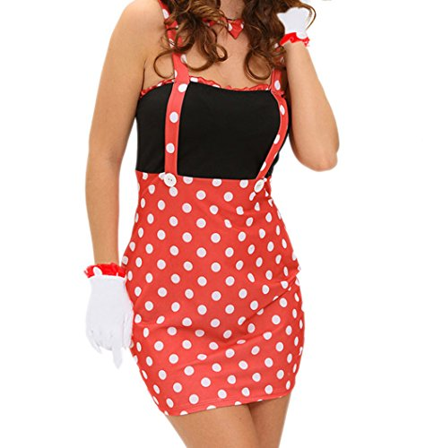 Tank Dress Bloody Costumes (BYY Four-piece Sexy Darling Miss Minnie Mouse)