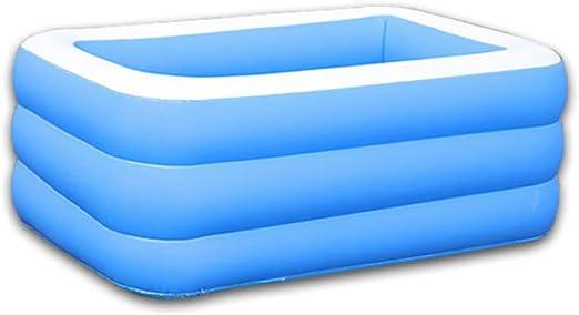 YIRUN Piscina Hinchable para NiñOs Cuadrado Plegable Inflable Gruesas Sin Depuradora Piscina Familiar Rectangular Azul,150×105×50cm: Amazon.es: Hogar