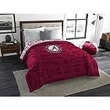 1 Piece NCAA University of Alabama Crimson Tide Comforter Full, Sports Patterned Bedding, Featuring Team Logo, Fan Merchandise, Team Spirit, College Football Themed, Red Multi, For Unisex
