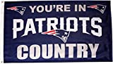 Fremont Die NFL New England Patriots 3-by-5 Foot In Country Flag