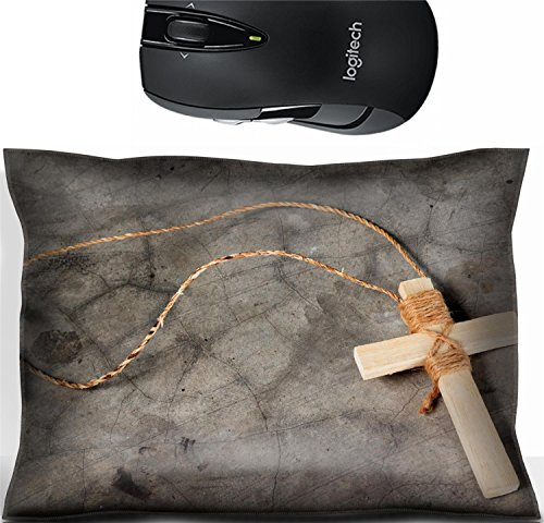 - Liili Mouse Wrist Rest Office Decor Wrist Supporter Pillow Wooden antique look crucifix necklace isolated on grunge wall background Photo 10412794