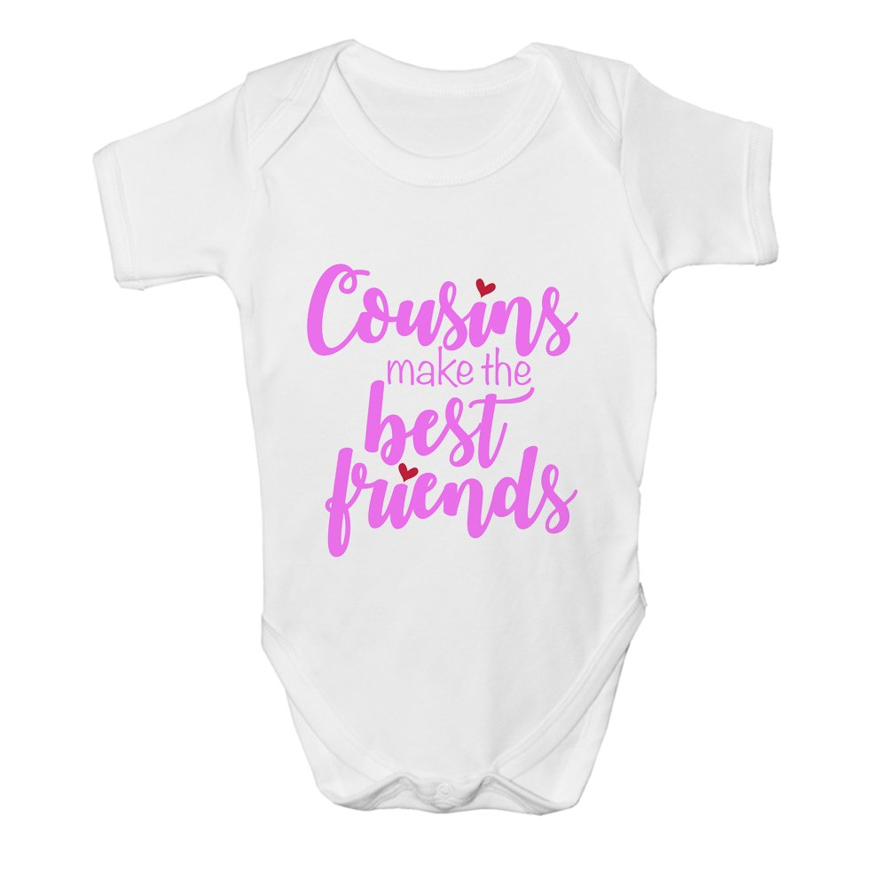Cousins Make The Best Friends Baby Grow Bodysuit Vest Girls Pink Print Gift
