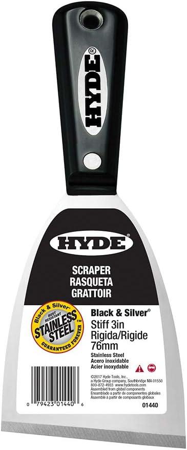 Hyde 06579 Pro Stainless Steel 4 Inch Stiff Stainless Steel Scraper