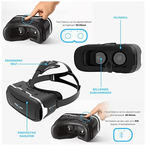 c519998e1ebc Virtual Reality Headset by NSInew – Over 30 VR Apps   Bluetooth ...