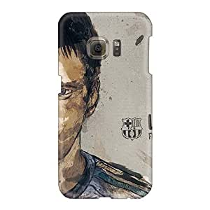 Shockproof Hard Cell-phone Case For Samsung Galaxy S6 (gup10564cPmc) Unique Design High-definition Lionel Messi Skin