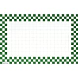 Retail Price Sign Sign Cards White Cards With Green Checkerboard Border - 11'' L x 7'' H 100 Per Pack