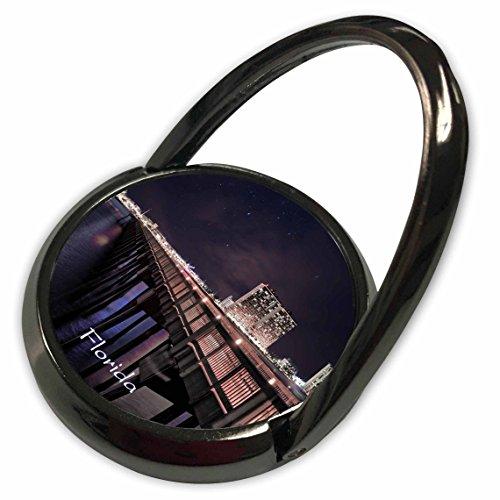 3dRose Florida - Image of Panama City Pier At Night - Phone Ring - Pier Panama City