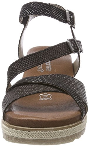 Double 02 Black Sandal Wedge Buckle Low D6356 Remonte OdAqYA