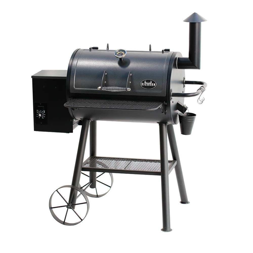 BIG HORN OUTDOORS Electric Wood Pellet Grill& Smoker 700 sq.in. Cooking Area, Auto Temperature Control,Porcelain Grill Grate,110lb Heavy Made by BIG HORN OUTDOORS