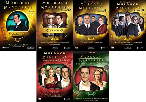 Murdoch Mysteries Ultimate Collection Seasons 1-10 + Movies by