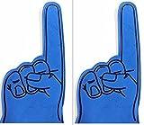 number 1 finger - S.S. 2 Pack - 18-Inch Large Number #1 Finger Team Color Cheerleading Foam Hand