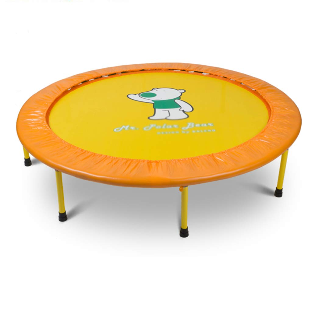 屋外用トランポリン トランポリン弾性フィットネストランポリンスーパージャンプトレーニングミニトランポリン屋内折りたたみジャンプベッド (Color : Yellow, Size : 50 inch) 50 inch Yellow B07JVBHV9F