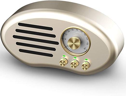 Ponente Altavoz Bluetooth - Subwoofer Teléfono Inalámbrico Mini Altavoz Personalidad Radio Retro Viejo Hombre Portátil Reproductor de Música Superior Tarjeta U Disco de Carga sonar (Color : A) : Amazon.es: Hogar