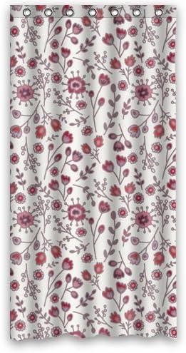 Fond Rose Fleuri Rideau De Douche 36 Cm X 183 Cm Amazon