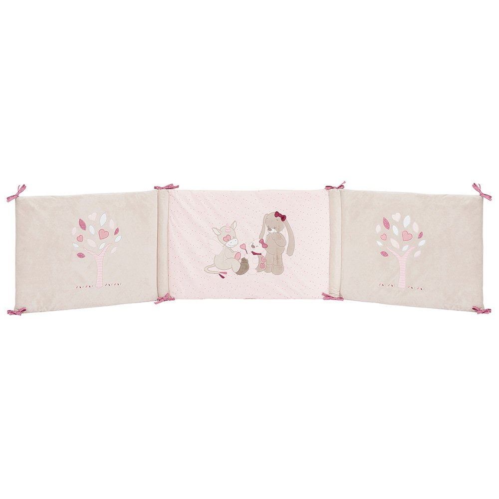 nattou nestchen f r babybett 70x140 cm und 60x120 cm m dchen rosa nina jade un ebay. Black Bedroom Furniture Sets. Home Design Ideas