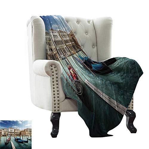 (Italian Historic Decor,Couch Throws Gondolas Venetian Adriatic Lagoon Venezia Photo 70