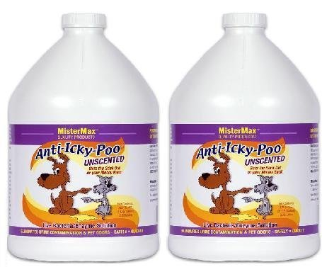 Anti Icky Poo''Unscented'' Odor Remover (2) Gallons