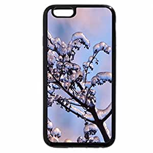 iPhone 6S / iPhone 6 Case (Black) Lilac Branch Of Snow And Ice