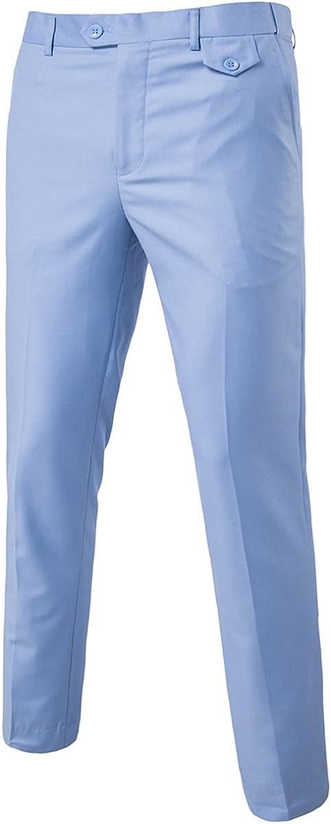 60s – 70s Mens Bell Bottom Jeans, Flares, Disco Pants Mens Classic Slim Fit Fit Stretch Flat Front Slacks Dress Pants $29.99 AT vintagedancer.com