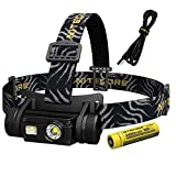 NITECORE HC65 1000 Lumen White/Red/High CRI Output Micro-USB Rechargeable Headlamp -Battery Included