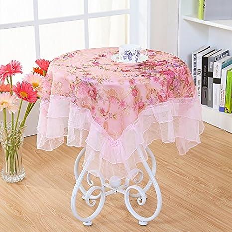 Cu @ EY Confort rosas blancas mantel una Variété de tallas mantel toalla frigorífico Hotel de apertura applicable casa Picnic Banquet: Amazon.es: Hogar
