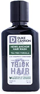 product image for Duke Cannon Supply Co. - News Anchor Hair Wash Shampoo and Conditioner -Travel Size, Tea Tree (3 oz) 2-in-1 Shampoo Conditioner Combo for Thick Healthy Hair - Tea Tree