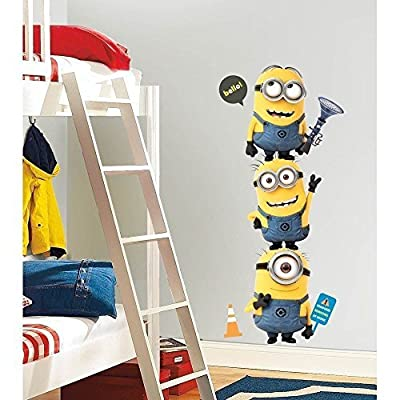 New Giant DESPICABLE ME 2 MINIONS WALL DECALS Kids Room Stickers Childrens Decor by Sticker Hot: Home & Kitchen