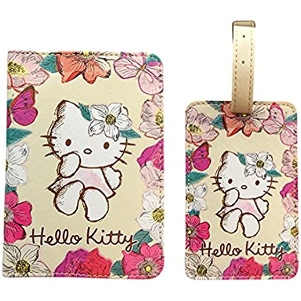 Passport Holder Cover Case Hello Kitty Face Leather Travel Wallet For Women And Men