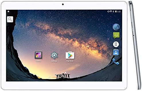 YUNTAB 10.1 inch Android Tablet PC, WiFi/Unlocked 3G Connection, 2GB RAM 16GB ROM, 1.3 GHz Quad Core CPU, IPS Touch Screen,with Dual SIM Card Slots, Dual Camera (Silver)