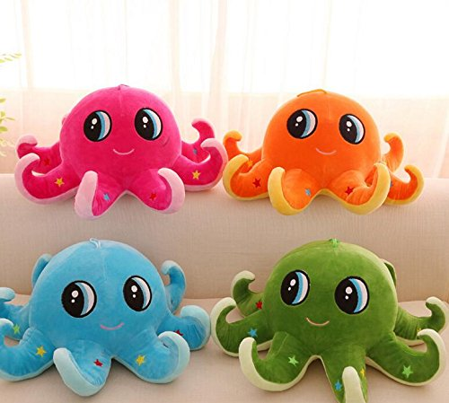 Pinjewelry Home Decoration Soft Toys Plush 50cm Cute Octopus Dolls Soft Stuffed Toys for Baby Kids Family Christmas Birthday Gifts(Pink)