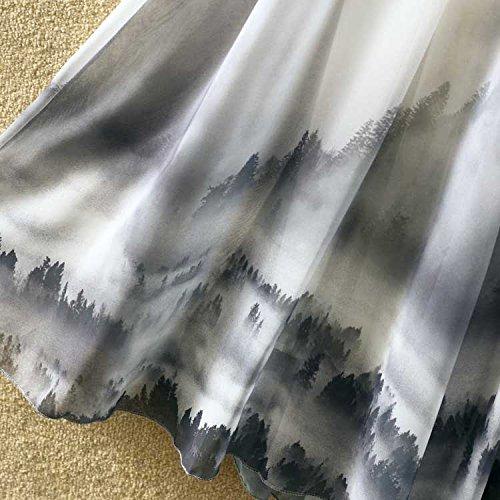 Ashir Aley Summer Floral Flowy Chiffon Long Maxi Skirt (Grey) by Ashir Aley (Image #7)
