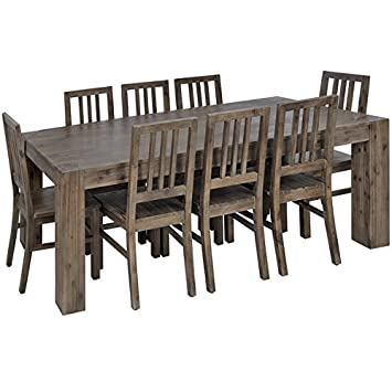 Montana H13599 - Juego de Comedor (rústico, Mesa y 8 sillas, Madera ...