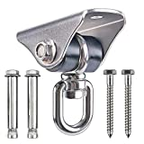 Besthouse Permanent Antirust Stainless Steel 304 Heavy Duty Swing Hangers 1000LB Capacity, Silent Swing Hook 360° Rotation, 4 Screws for Concrete and Wooden, Yoga Hammock Chair Sandbag, Swing Sets
