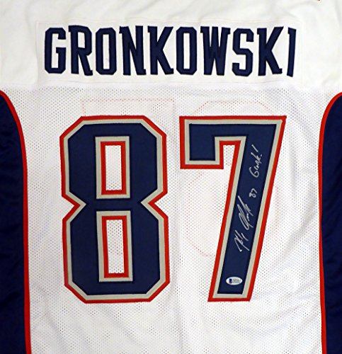 New England Patriots Rob Gronkowski Autographed White Jersey
