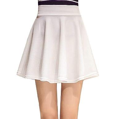Mini Falda Falda Plisada Básico Damas para Versátil Sólido ...