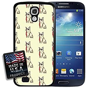 Angry Cat Tie Pattern Funny Galaxy S4 Hard Case