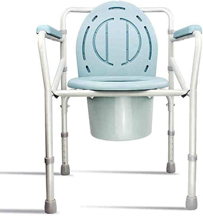 Silla de Cama con cabecera médica 3 en 1 para Personas Mayores - Asiento de Inodoro Plegable bariátrico para Adultos - Altura Ajustable - Portátil - Taburete de Inodoro