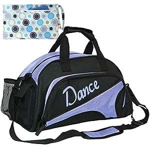 kilofly Girl's Ballet Dance Sports Gym Duffel Bag Travel Carry On + Handy Pouch