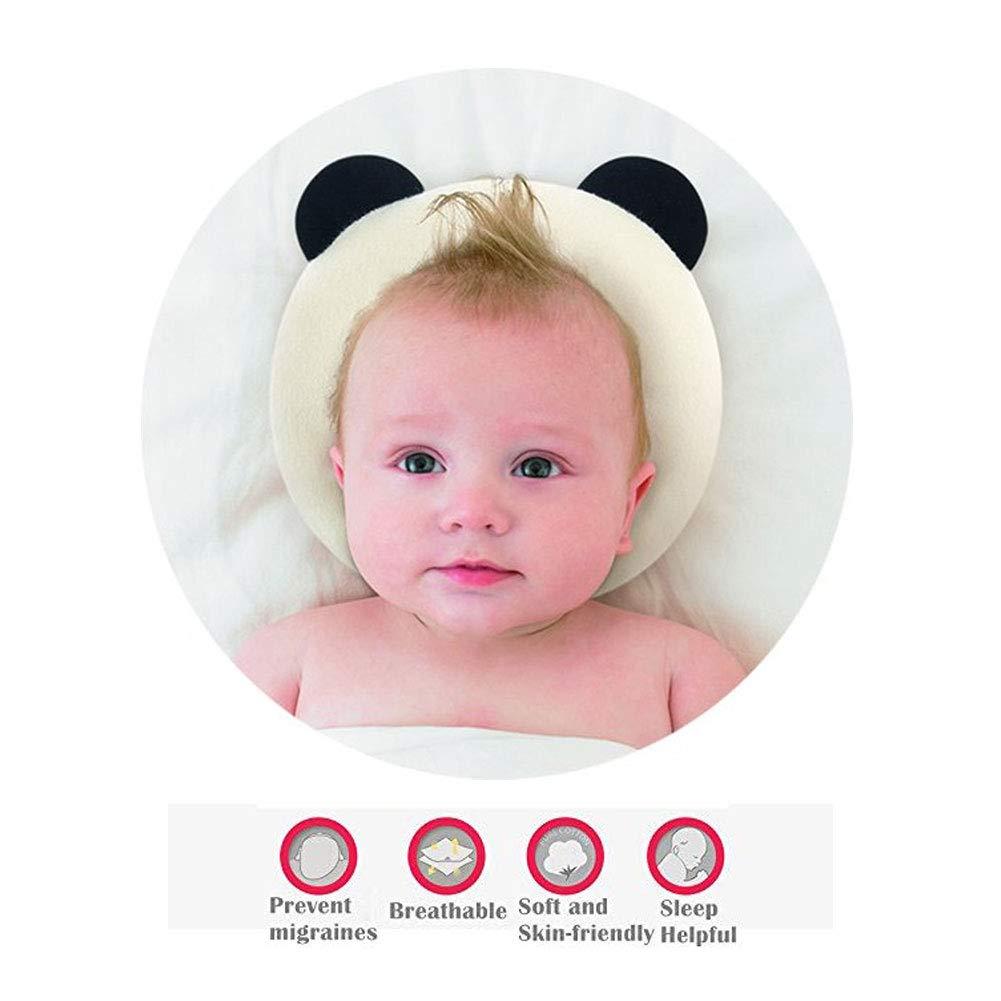 0-16 meses Almohada para dar forma a la cabeza del beb/é soporte para la cabeza con espuma de memoria forma de panda plagiocefalia almohada para la prevenci/ón del s/índrome de cabeza plana