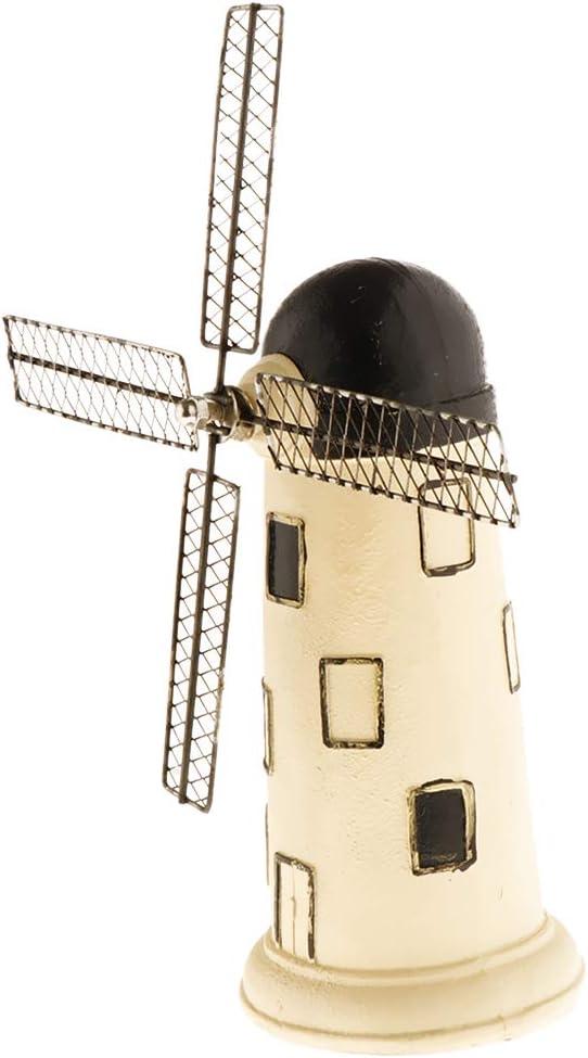 Amuzocity Regalo della Decorazione Dellufficio Domestico del Mulino A Vento Olandese di Modello della Figurina della Statua dellAnnata Beige