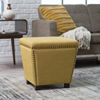 Noelle Storage Ottoman with Nailheads