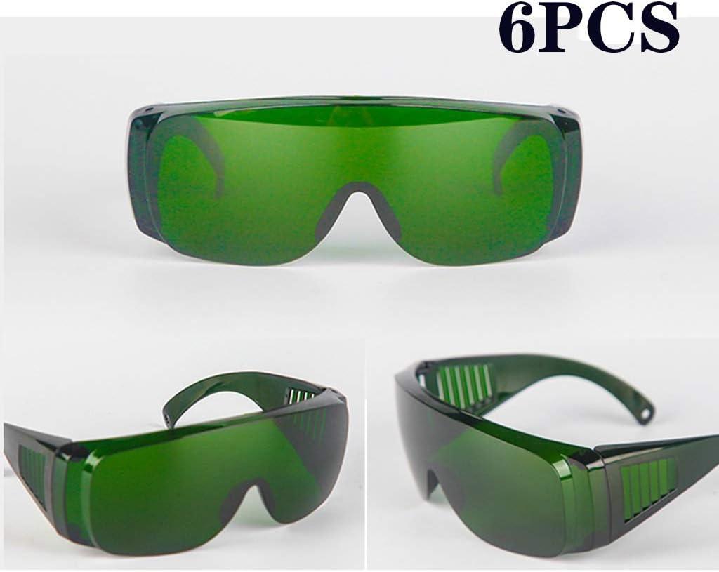 6pack resistente a los choques montar a caballo al aire libre de los vidrios de soldadura gafas a prueba de viento de polvo anti-Escupir Protección for los ojos de los anteojos (Color : Dark green)