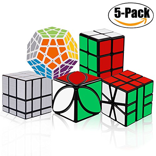 Puzzle Toy Cube Game (Tresbro Speed Cube Set [5 Pack] Qiyi Ivy Skewb Cube 2x2x3 Cube Megaminx Mirror Cube SQ-1 Speedcubing Magic Cube Puzzle Bundle Game Toys Set of 5)