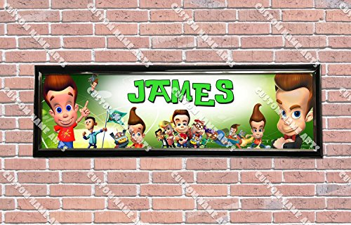 Personalized Customized Jimmy Neutron Poster With Frame, With Your Name On It, Party Door Poster, Room Art Decoration, Wall -