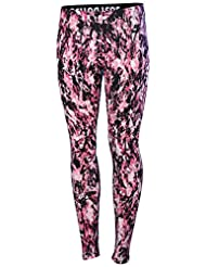 Nike Women's Leg A See All Over Print Sport Casual Leggings-Pink/Black-Medium