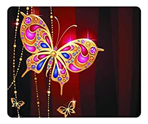 Brain114 Customized Mouse Pad Oblong Desktop Mousepad Metal Gold Butterfly High Quality Rectangle Non-Slip Gaming Mouse Pads