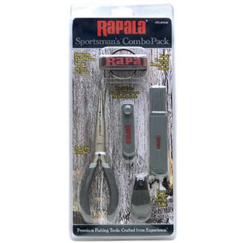 (Rapala Combo Pack  6 1/2 Pliers / Jig punch/ Hook Sharpener / Clipper)
