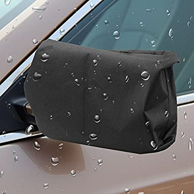 MICTUNING Car Side Mirror Covers-Protect Auto Exterior Rear View Mirrors from Snow, Ice & Frost[black,one pair]